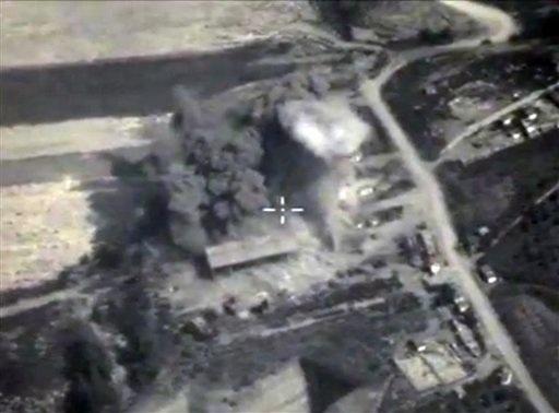 Nhiều địa điểm của IS tại Syria đang bị Nga không kích (Ảnh: AP)
