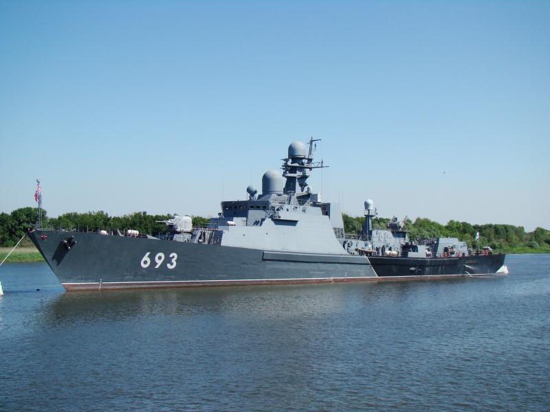 Tàu hộ vệ tên lửa tàng hình Dagestan, lớp Gepard, thuộc Project 11661K (Ảnh: Tass)