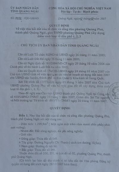 Quảng Ngãi: Người dân khiếu nại 1.200m2 đất vườn bị chuyển thành đất công - 4