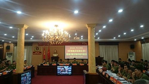 Hội nghị sơ kết công tác quý III của công an thành phố Hà Nội
