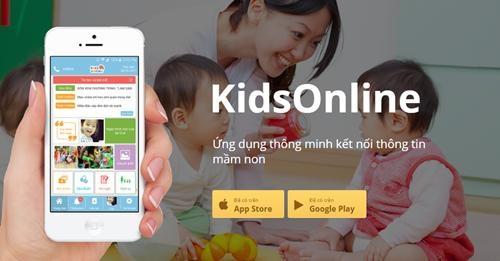 Ứng dụng KidsOnline giúp việc trao đổi giữa nhà trường, giáo viên và phụ huynh trở nên nhanh chóng và thuận tiện.