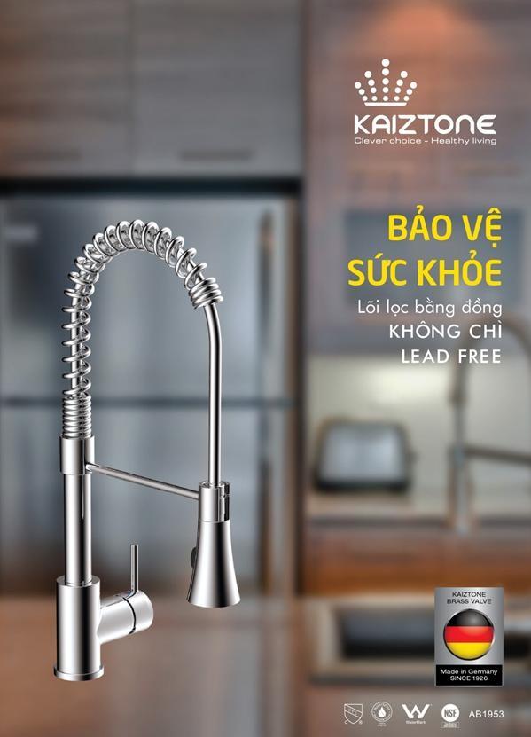 Vòi rửa bát Kaiztone - K80219 giúp bồn rửa bát của bạn trông bớt đơn điệu, thêm sang trọng, an toàn, tiện ích trong quá trình sử dụng