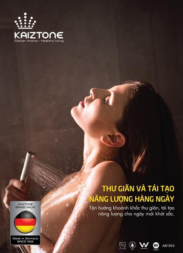 Nước đi qua sen tắm, vòi lavabo, vòi rửa bát Kaiztone giúp bạn tận hưởng khoảnh khắc thư giãn, tái tạo năng lượng...