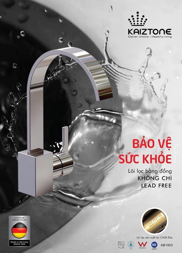 Vòi rửa bát Kaiztone- K60412 không chỉ đẹp mà còn cho gia đình nguồn nước an toàn để rửa thực phẩm, nấu nướng hằng ngày.