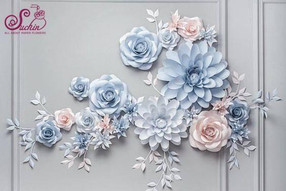 Thiết kế hoa giấy dùng để trang trí nhà, cửa của Suchin