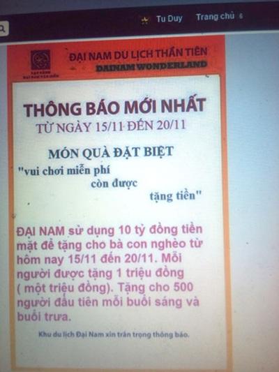 Nội dung trên Facebook mang tên mạo danh của ông Huỳnh Uy Dũng.