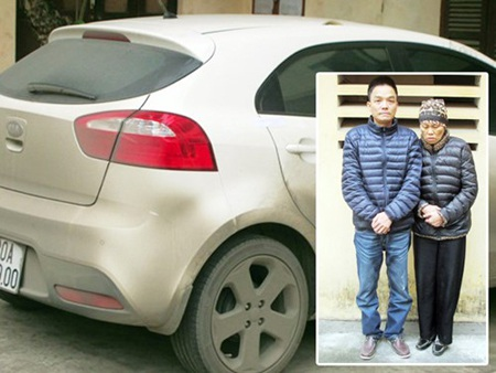 Hai mẹ con Thái và Long cùng chiếc xe Long chở mẹ và em gái đi trộm cắp