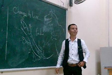 Một buổi lên lớp của thầy Thành.