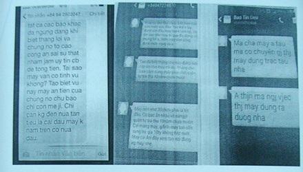 Các tin nhắn khủng bố của kẻ giấu mặt Các tin nhắn khủng bố của kẻ giấu mặt
