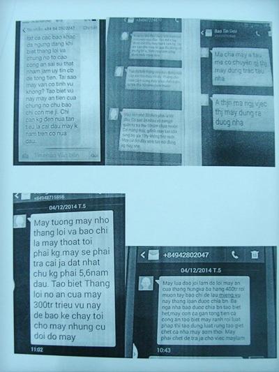 Các tin nhắn khủng bố của kẻ giấu mặt