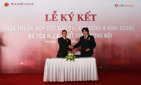 """CENINVEST – Nam Cường """"bắt tay"""" hợp tác đầu tư và xây dựng 3 tòa H, J, K – Khu đô thị mới Dương Nội"""