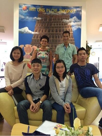 Các học sinh tại Fuu Sachsen Việt Nam.