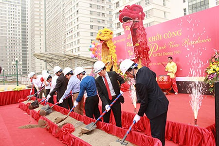 CENINVEST khởi công tiểu khu Park View Residence Khu đô thị mới Dương Nội