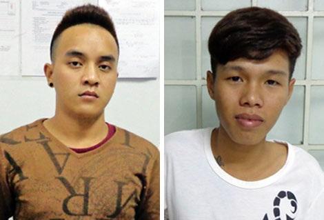 Hai đối tượng Duy và Kiều, chứa chấp mại dâm trong tiệm massage.