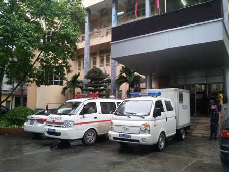 Nơi xét xử bị cáo Lý Nguyễn Chung sáng nay
