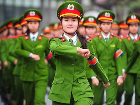 Những nữ chiến sỹ mang sắc mục Cảnh sát nhân dân