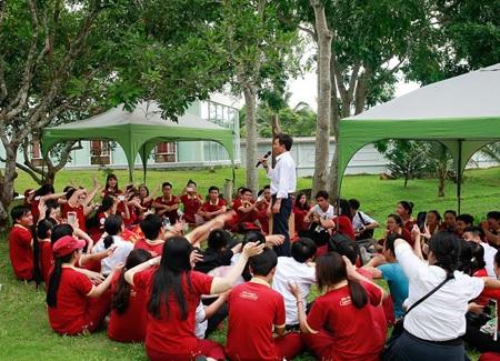 Một buổi sinh hoạt ngoại khóa của sinh viên tại Khu truyền thống - dã ngoại SIU