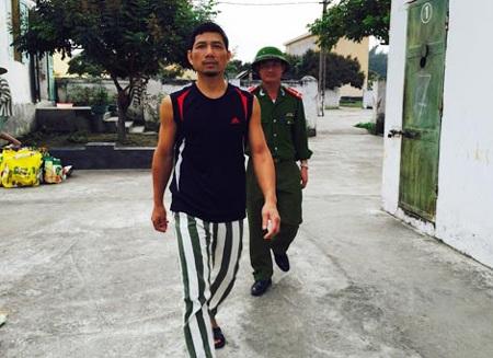 Đối tượng Vũ Huy Long tại Trại tạm giam Công an tỉnh Hải Dương.