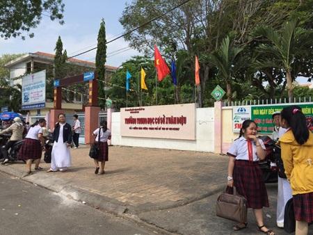 Trường THCS Xuân Diệu - nơi xảy ra vụ truy sát