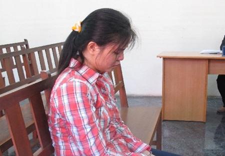 Bị cáo Đặng Thị Thùy Dương tại tòa