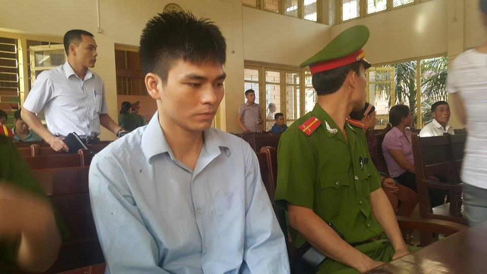 Bị cáo Lý Nguyễn Chung trong phiên xét xử sáng nay