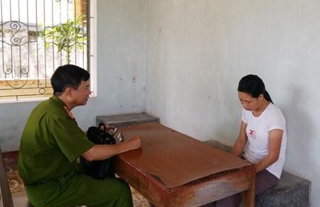 Bị can Nguyễn Thị Huê tại cơ quan điều tra.