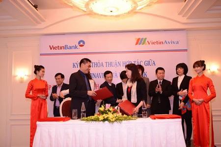 Lễ ký kết thỏa thuận hợp tác giữa VietinBank và VietinAviva