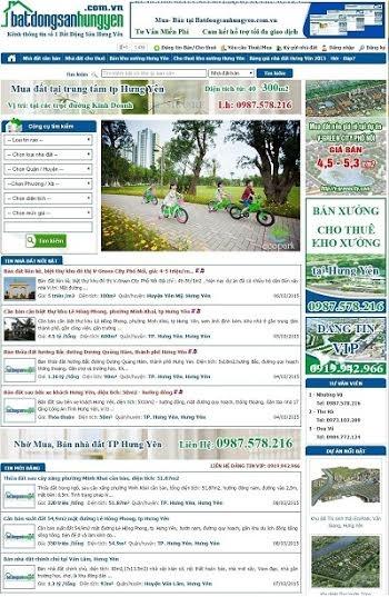 Giao diện trang tin website Bất động sản Hưng Yên