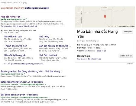 Kênh thông tin số 1 bất động sản Hưng Yên trên google.com.vn