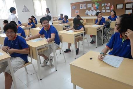 Học sinh Wellspring Saigon tham gia thi TOEFL Junior 2014.