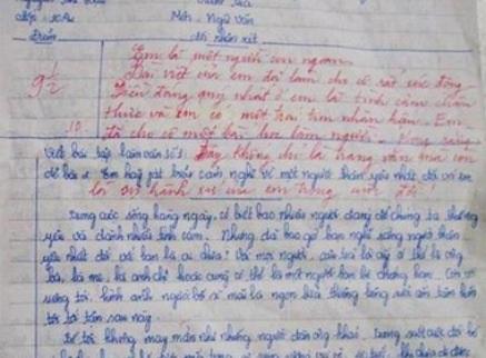 Bài văn về người bố của em Nguyễn Thị Hậu