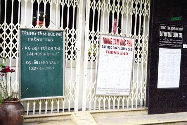 Khu vực cạnh trường ĐH Sư phạm Hà Nội chỉ còn Trung tâm Đức Phú treo biển chiêu sinh
