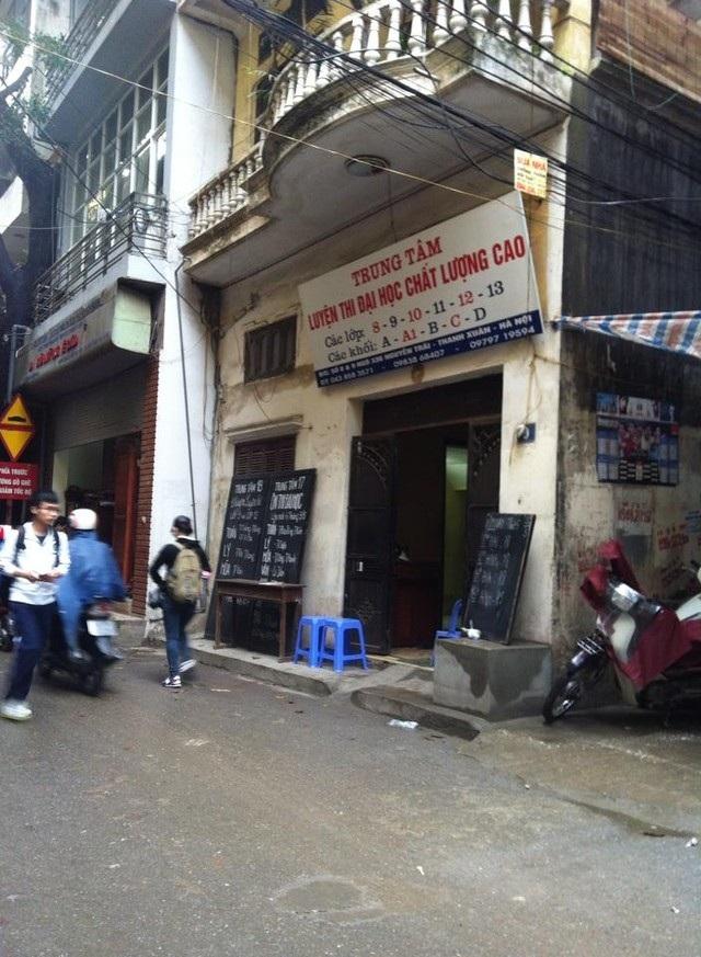 Các trung tâm luyện thi trong ngõ 336 Nguyễn Trãi vắng bóng sĩ tử