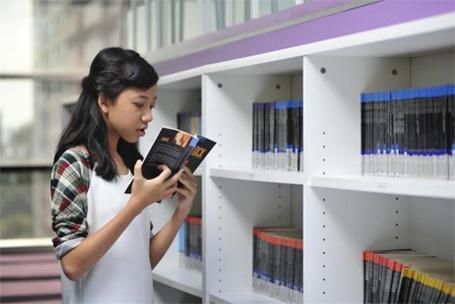 Thư viện ILA hiện đại với nhiều sách tham khảo