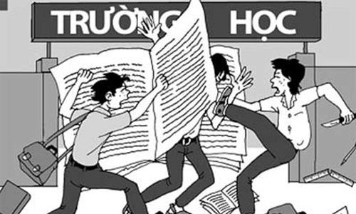 Bạo lực học đường vẫn đang là vấn nạn của xã hội (ảnh Internet)