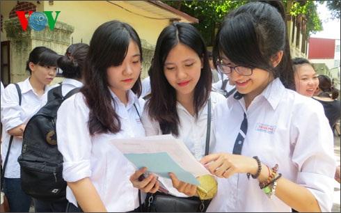 Năm 2015 là năm đầu tiên Việt Nam tổ chức kỳ thi THPT quốc gia