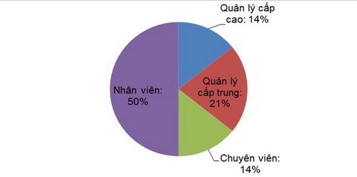 Bảng : tỉ lệ thăng cấp của người lao động tốt nghiệp EMBA-MCI. – Nguồn: MSS