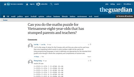 Đến nay đã có hơn 1.200 ý kiến tham gia bình luận về bài toán này. (Ảnh chụp màn hình)