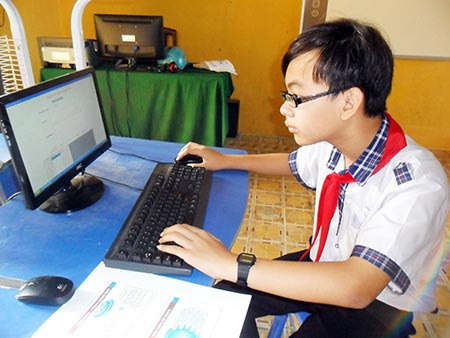 Em Nguyễn Lê Gia Thịnh. (Ảnh: baohaugiang.com.vn)