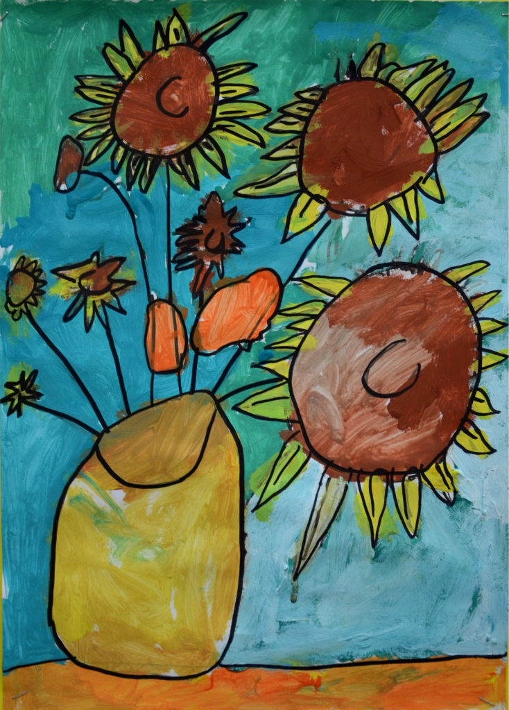 Bức tranh tĩnh vật của học sinh lớp 1