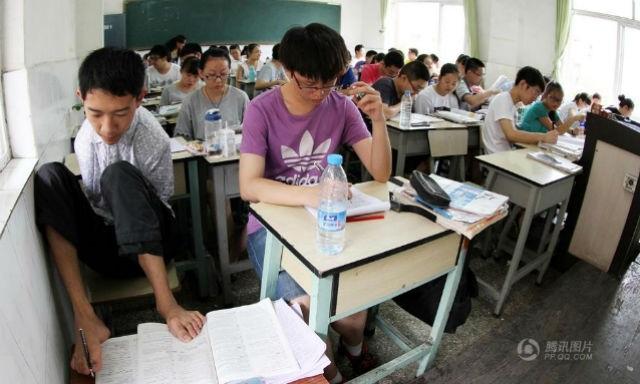 Peng Chao trong phòng thi đại học hồi đầu tháng này