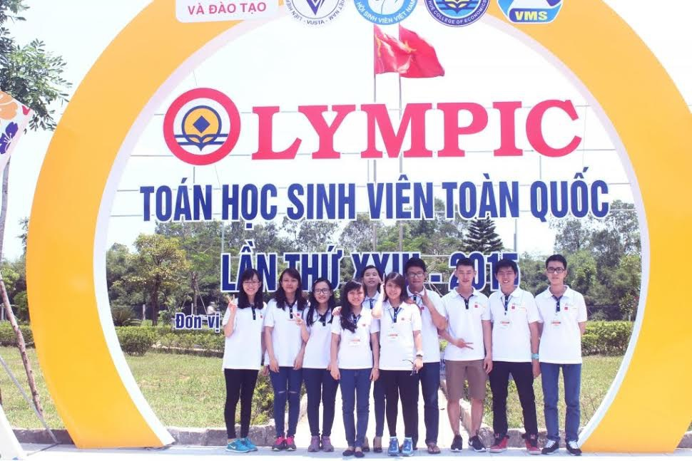 Đội tuyển Toán ứng dụng ĐH Hoa Sen tham dự cuộc thi Olympic Toán học sinh viên toàn quốc lần thứ 23