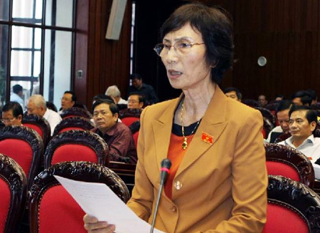 Đại biểu Quốc Hội Bùi Thị An. Ảnh: Quang Phong