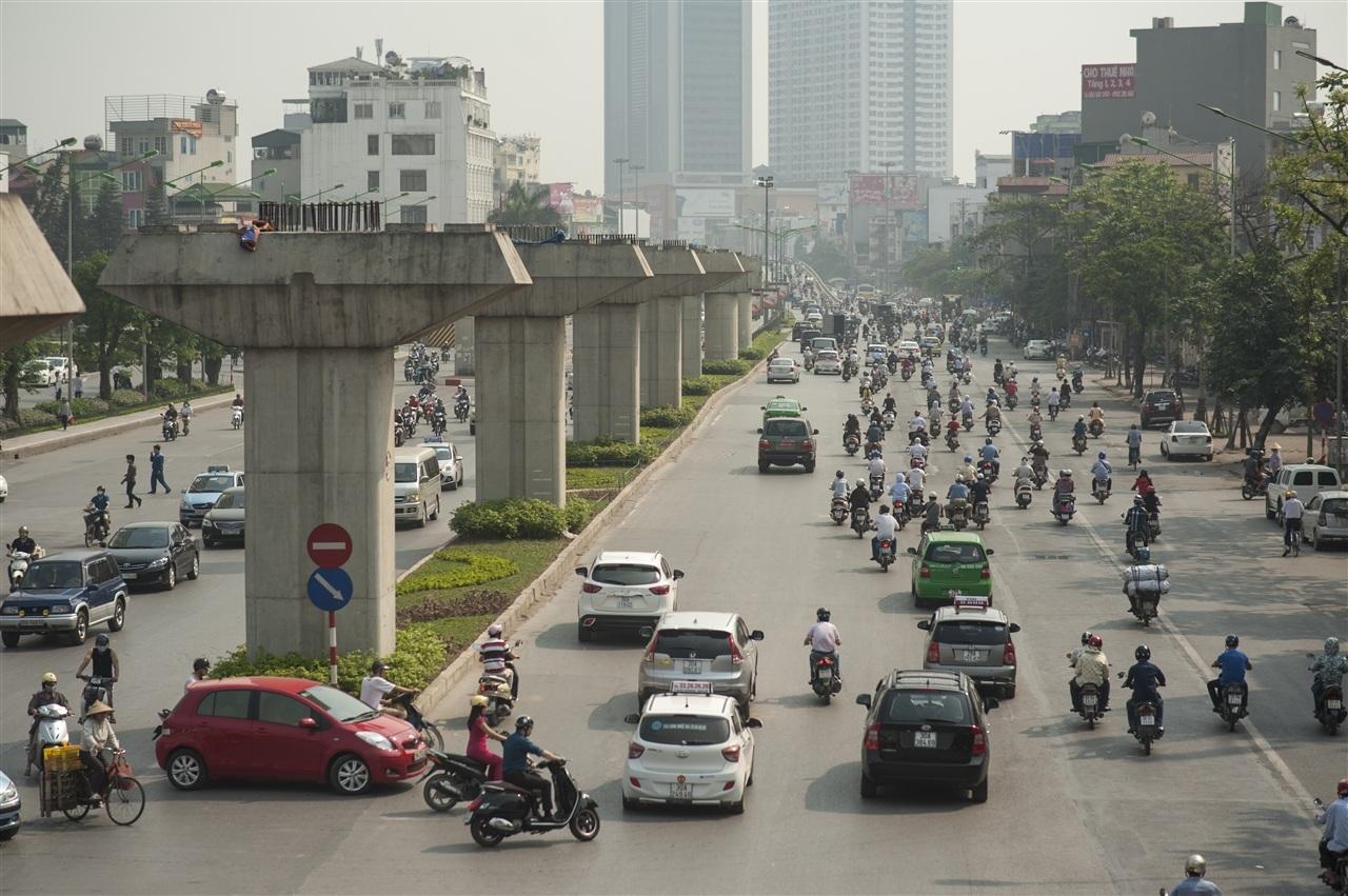 Đường Nguyễn Trãi nắng rát