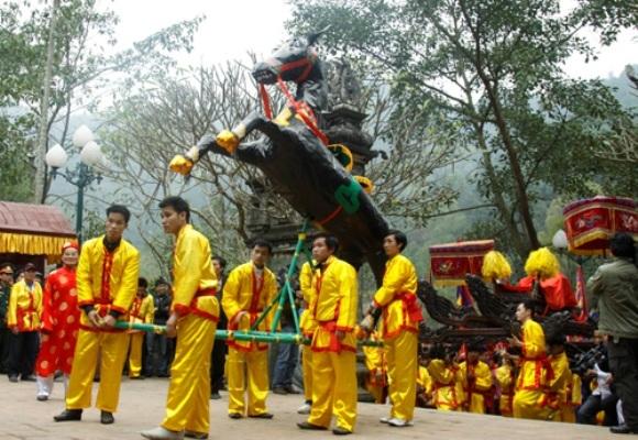 Hội đền Gióng được tổ chức từ mùng 6 tháng Giêng âm lịch. (Ảnh: VOV)