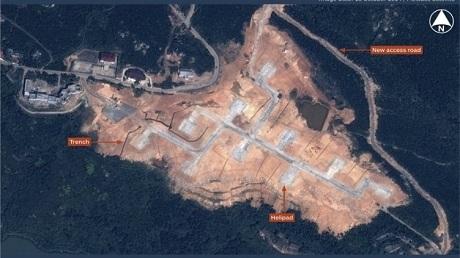 Các hoạt động quân sự tại đảo Nanji (Ảnh: