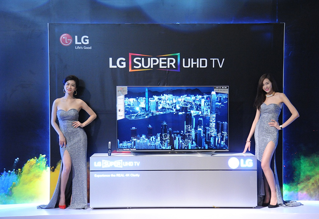 Các mẫu TV 4K 2015 của LG có kích cỡ từ 40 - 105 inch.