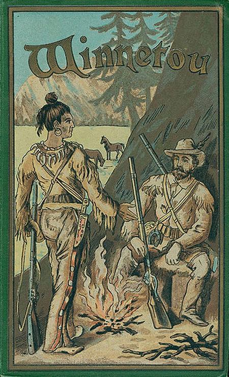 Bìa tác phẩm WinnetouI xuất bảnnăm 1893 của nhà văn Karl May