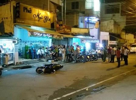Hiện trường vụ va chạm giao thông dẫn đến hỗn chiến khiến ông Sơn bị đâm chết
