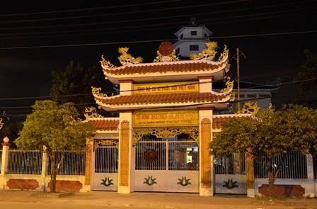 Khuôn viên chùa Hưng Minh Tự nơi phát hiện thi thể 2 trẻ sơ sinh